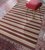 Contrast Living Multicolour Jute 72 x 48 Inch Hand-Woven Printed Dhurrie