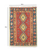 Contrast Living Multicolour Wool & Cotton 72 x 48 Inch Printed Dhurrie 78 x 54 Inch Printed Dhurrie