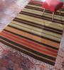 Contrast Living Multicolour Jute 72 x 62 Inch Suzani Area Rug