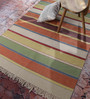 Contrast Living Multicolour Cotton 72 x 48 Inch Over Dye Area Rug