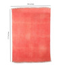 Contrast Living Red Cotton & Wool 117 x 78 Inch Area Rug
