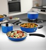 Cookaid Elite Heavy Blue Stainless Steel 3-piece Cookware Set