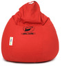 Cool Dude Embroided Bean Bag Filled with Beans in Red Colour by Can
