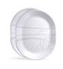 Corelle Gold Frost White & Grey Vitrelle Glass Oval Serving Platter Set
