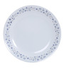 Corelle India Impression Lilac White and Blue Vitrelle Glass Plate - Set of 6