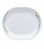 Corelle India Impressions Waves Oval Glass Platter