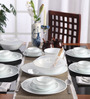 Corelle Livingware Mystic Grey Vitrelle Glass Dinner Set - Set of 30
