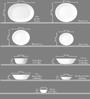 Corelle Livingware Ocean Blues Vitrelle Glass Dinner Set - Set of 30