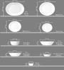 Corelle Livingware Porto Calle Vitrelle Glass Dinner Set - Set of 21