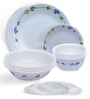Corelle Livingware Secret Garden Multicolor Vitrelle Glass 16-piece Dinner Set