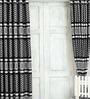 Cortina Black Jacquard Premium Leopard Print Door Curtain- Set of 2