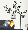 Cortina PVC Vinyl Tree & Bird Cage Theme Wall Sticker