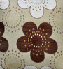 Cortina Brown Polyester 16 x 16 Inch Velvet Floral Cushion Cover