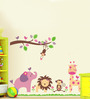 Cortina PVC Vinyl Jungle Animal Theme Wall Sticker
