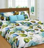 Cortina Premium Blue Tulip & Lilie Double Bed Sheet Set