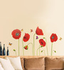 Cortina PVC Vinyl Red Rose Theme Wall Sticker