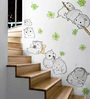 Cortina Vinyl lovely Mouse with Flowers Wall Sticker