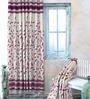 Cortina Purple Jacquard Premium Door Curtain- Set of 2