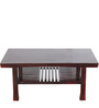 Morton Slatted Shelf Coffee Table in Passion Mahogany Finish by Woodsworth