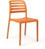 Costa Bistrot Chair in Arancio Finish by Nardi