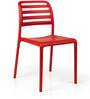 Nardi Costa Bistrot Chair in Rosso Finish by Patios