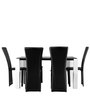 Costa Six Seater Dining Set in Black and White Colour by HomeTown