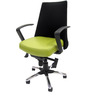 County Ergonomic Chair in Green & Black Colour by Chromecraft