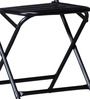 Marandoo Grunge Black Outdoor Folding Chair by Bohemiana