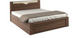 Crescent Queen-Size Bed with Box Storage in Dark Acasia Finish by Spacewood