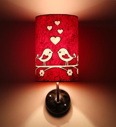 Craftter Love Bird Red & White Wall Lamp