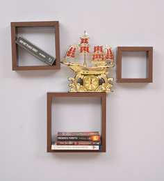 Crystal Furnitech Wenge Wood Walnut Wall Shelve