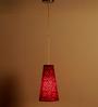 Craftter Flowers Design Red Color Hanging Lamp