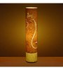 Craftter Indian Ethnic Bright Yellow Floor Lamp