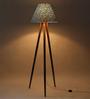 Craftter Green Fabric Tripod Floor Lamp