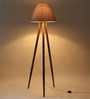Craftter Grey Fabric Tripod Floor Lamp