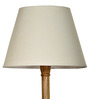 Craftter White Acrylic Fused with Cloth Khadi Textured Floor Lamp Shade