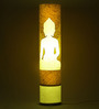 Craftter Lord Buddha White & Yellow Acrylic & Handmade Paper Floor Lamp