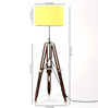 Craftter Handloom Matka Silk Yellow Fabric Tripod Floor Lamp