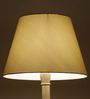 Craftter Bright Yellow Acrylic Fused with Cloth Plain Floor Lamp Shade