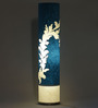 Craftter Practicalities Pattern Blue & White Acrylic & Handmade Paper Floor Lamp