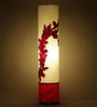 Craftter Practicalities Pattern Red & White Acrylic & Handmade Paper Floor Lamp