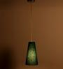 Craftter Swastika Design Blue Color Hanging Lamp