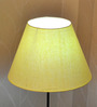 Craftter Yellow Acrylic Fused with Cloth Floor Lamp Shade