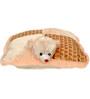 Novel Cream Folding Pillow Cum Teddy Bear