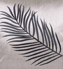 Creative Homez Grey & Black Polyester 16 x 16 Inch Embroidery Cushion Cover