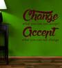 Creative Width Vinyl Change What You Cannot Accept Two Wall Sticker in Burgundy