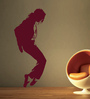 Creative Width Vinyl Dancing MJ Wall Sticker in Burgundy