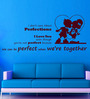 Creative Width Vinyl Don't Care About Perfections Wall Sticker in Burgundy