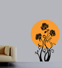 Creative Width Vinyl Give Me Sunshine Wall Sticker in Black & Yellow