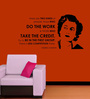 Creative Width Vinyl Indira Gandhi Wall Sticker in Black